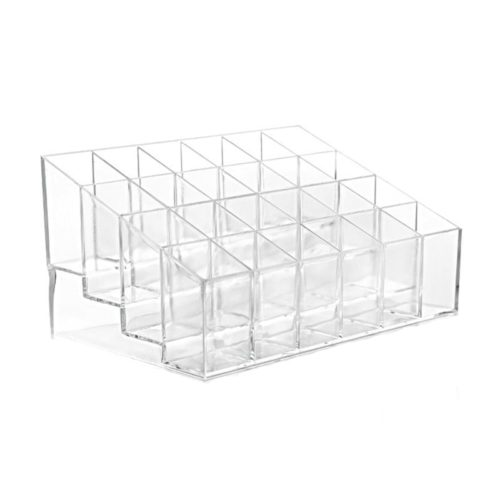 Lipstick Organizer 24-Grid Display Case