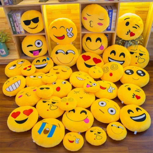 Emoji Pillows Round Cushion