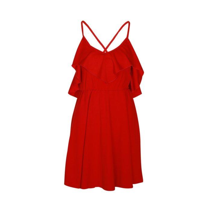 Sexy Red Dress Women's Apparel