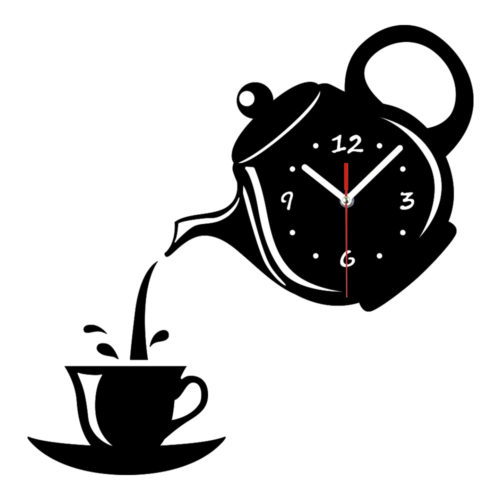 Decorative Wall Clocks Teapot Cup Decor