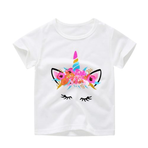 Unicorn Shirt Kids Casual Top