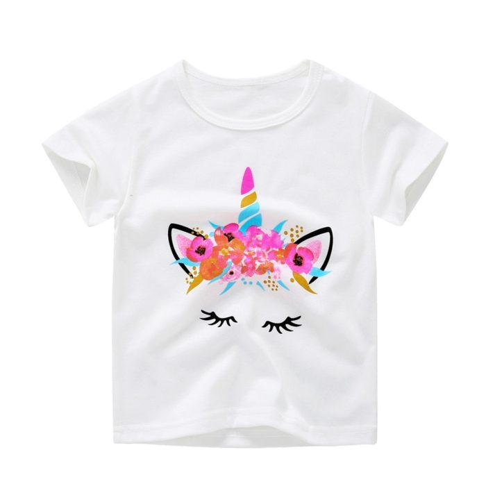 Unicorn Shirt Kids Casual Top