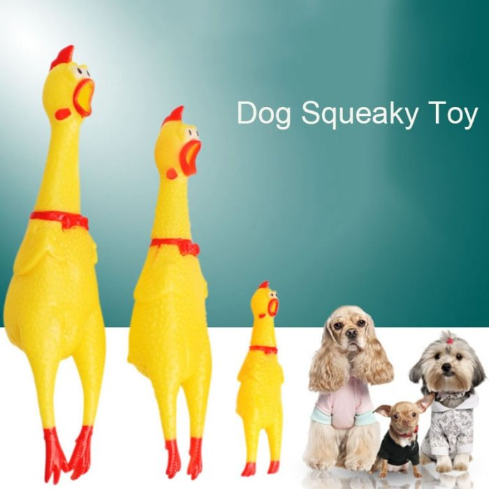 Dog Squeaky Toy Screaming Chicken
