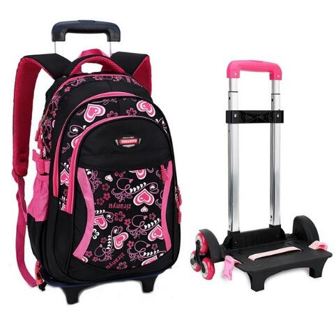 Trolley School Bags Detachable Kids Bag