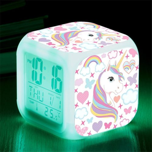 Kids Alarm Clock LED Unicorn Design