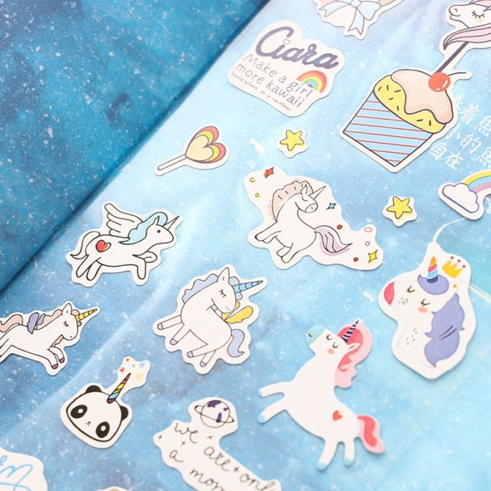 Sticker Sheets Fun Unicorn Designs