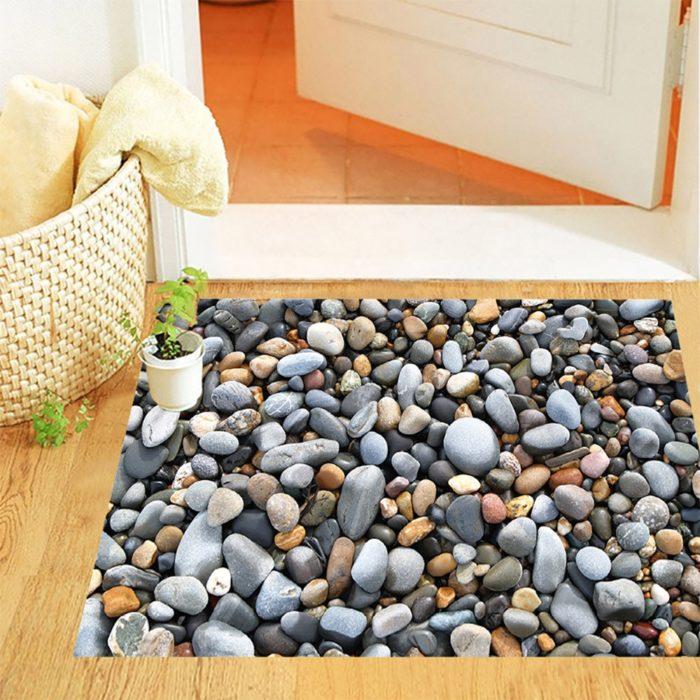 3D Floor Design Cobblestones Decor