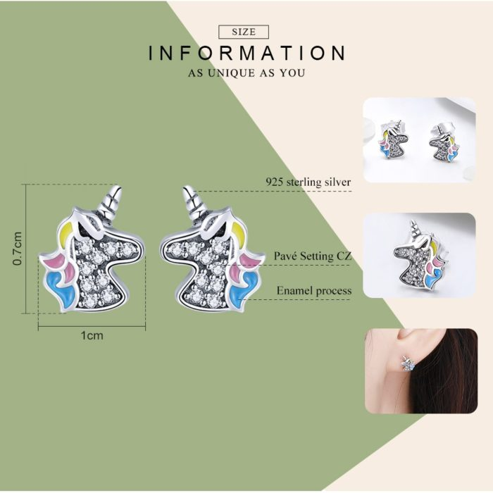 Unicorn Earrings Ladies Fashion Jewelry