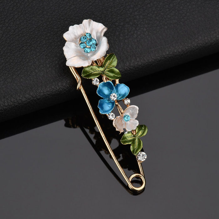 Brooch Floral Pin Cloth Accessory