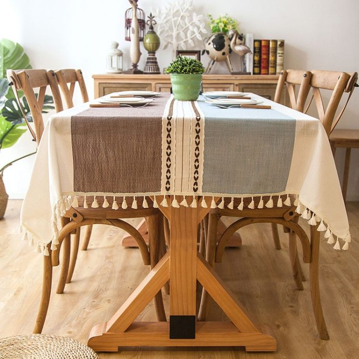 Table Linens Cloth With Tassels