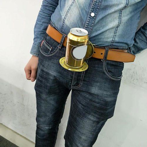 Belt Buckles For Men Portable Beer Holder