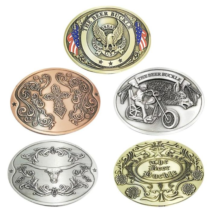 Belt Buckles For Men Portable Beer Holder
