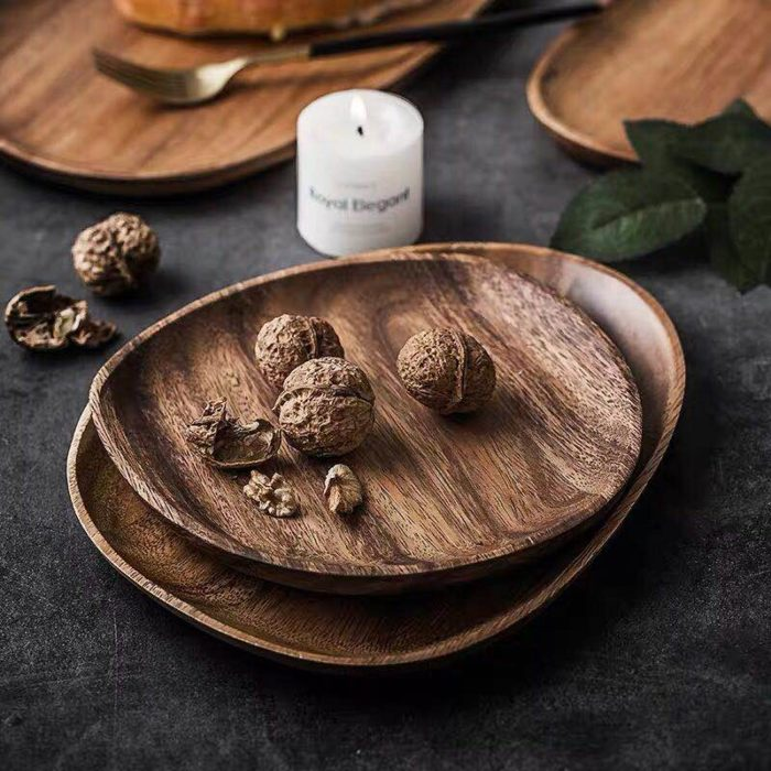 Wooden Plates Serving Tray Tablewares