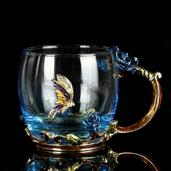 Coffee Glasses Clear Tea Mugs