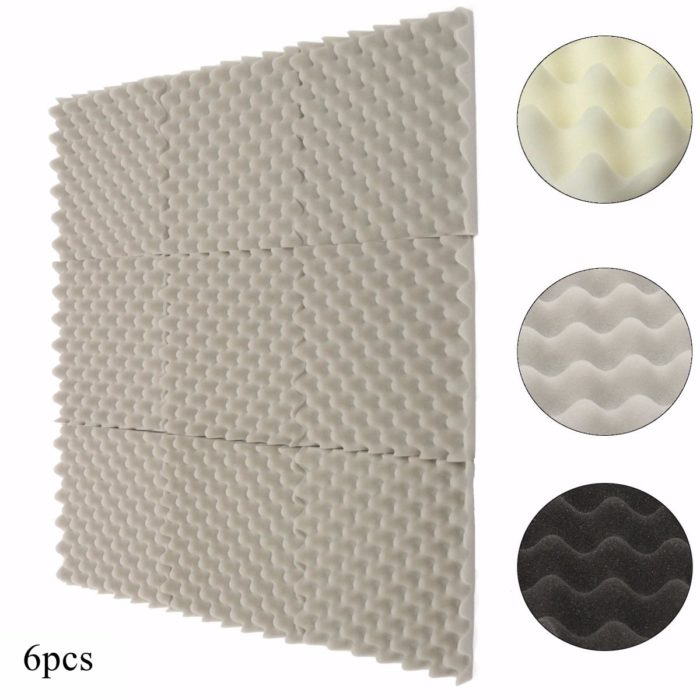 Acoustic Foam 6PC Soundproofing Mats