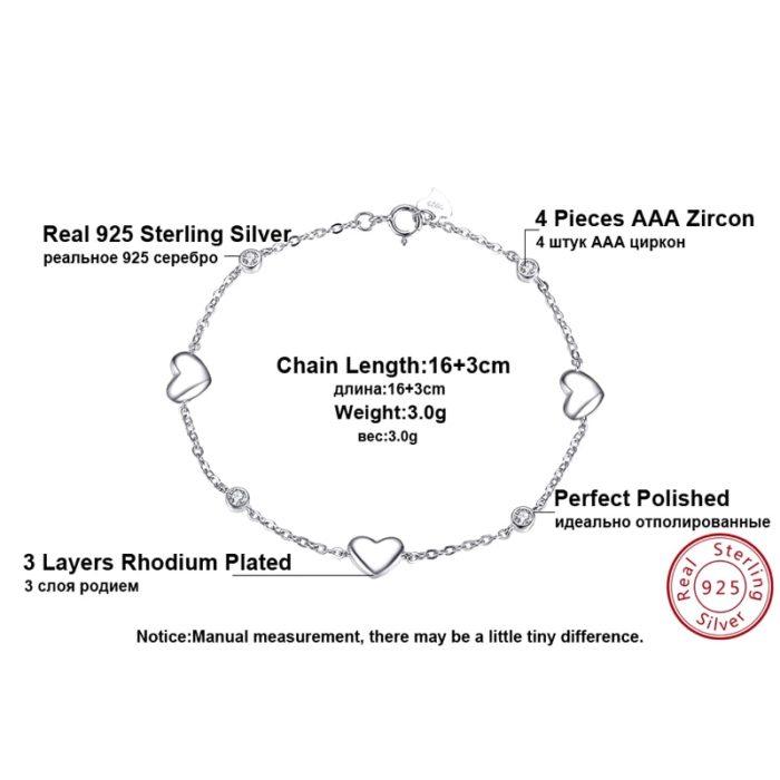 Sterling Silver Bracelets Ladies Jewelry