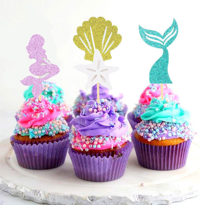 Birthday Cake Toppers Mermaid Theme