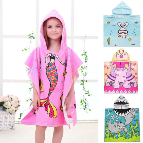 Kids Hooded Towels Cartoon Design