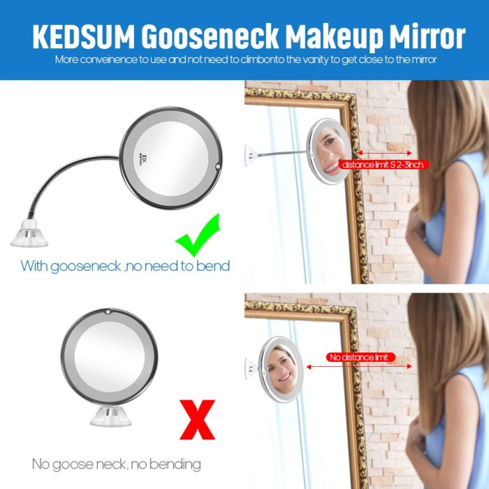 Makeup Mirror with Lights Magnifier