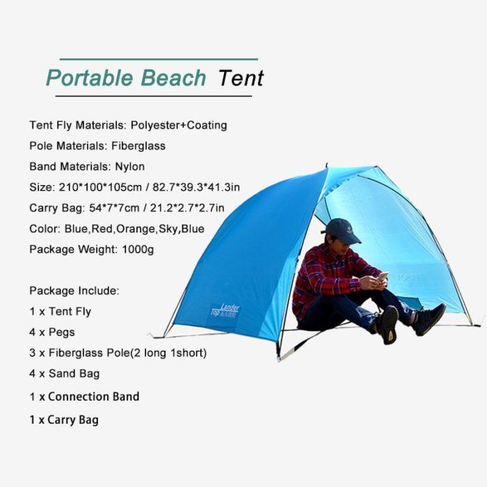 Beach Shade Ultralight Sun Tent