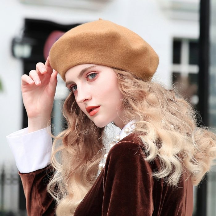 Beret Wool Felt Lady's Hat