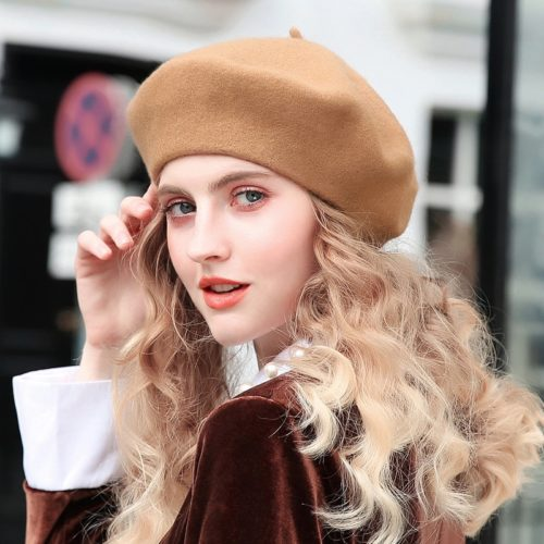 Beret Wool Felt Lady's Hat