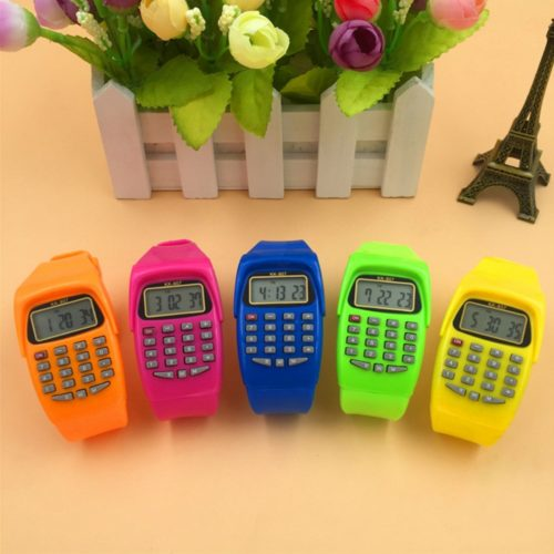 Calculator Watch Kids Silicone Watch