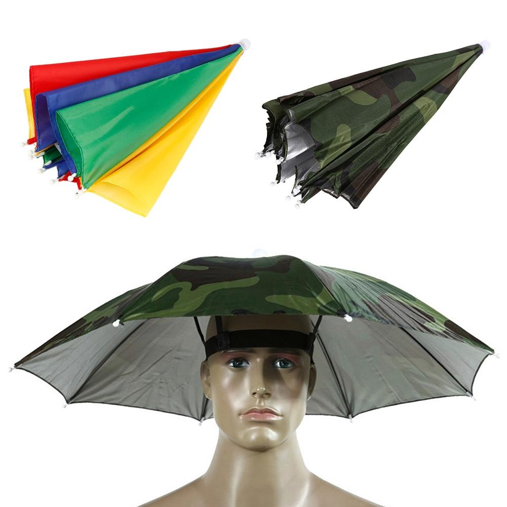 8f8438479 Umbrella Hat Foldable Outdoor Headwear