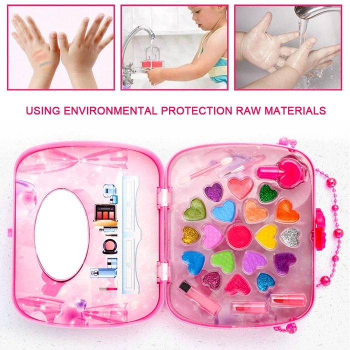 Kids Makeup Set Cosmetic Bag Toy