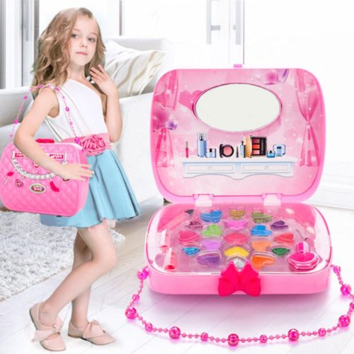 Kids Makeup Set Cosmetic Bag Toy