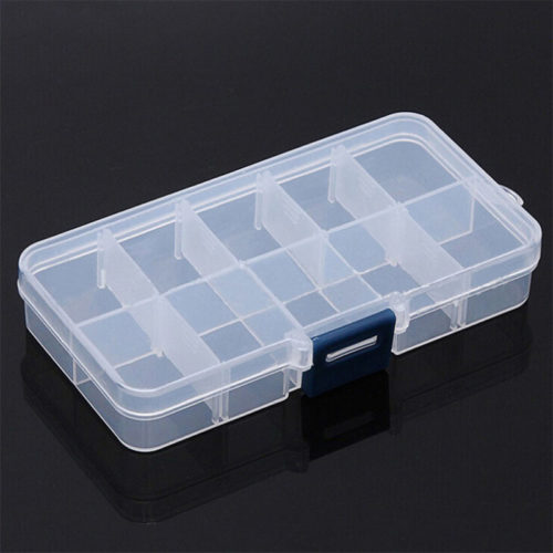 Pill Containers 10 Grid Organizer Box