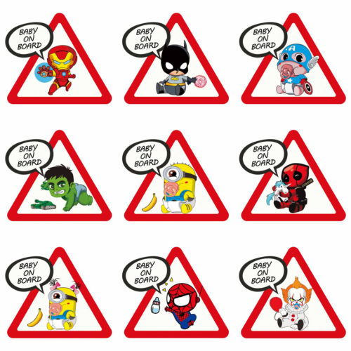 Baby Onboard Sticker Cartoon Car Decals