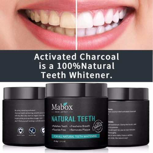 Charcoal Teeth Whitener Stain Remover