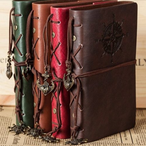 Leather Notebook Vintage Spiral Journal