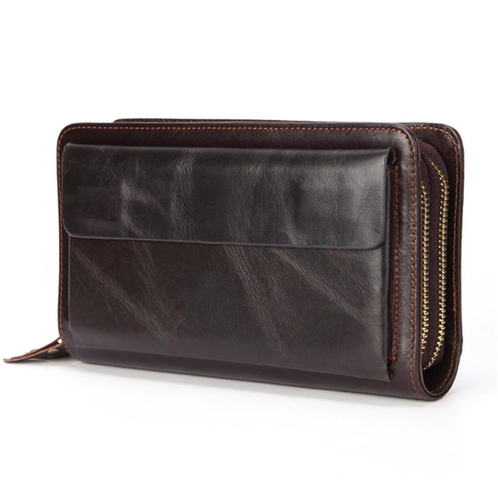 Long Wallets for Men Genuine Leather