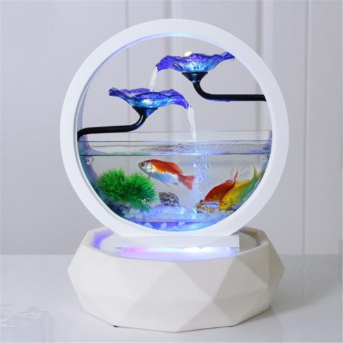 Small Fish Tank Creative Water Fountain