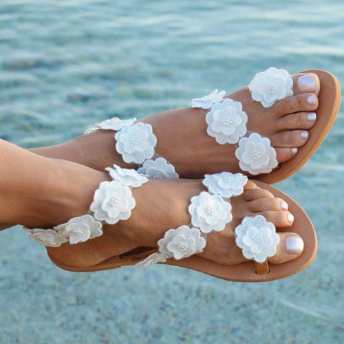 Womens Sandals Flat Bohemian Style
