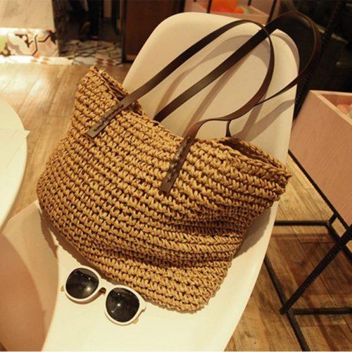 Straw Tote Handmade Bag