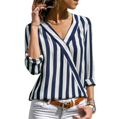 Ladies Blouse Stripes Design