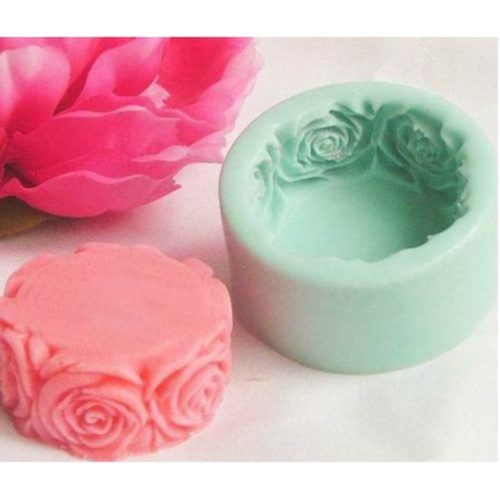 Soap Molds Rose Flower Design
