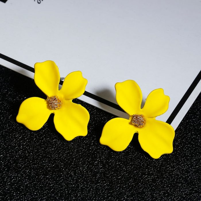 Flower Earrings Ladies Accessory