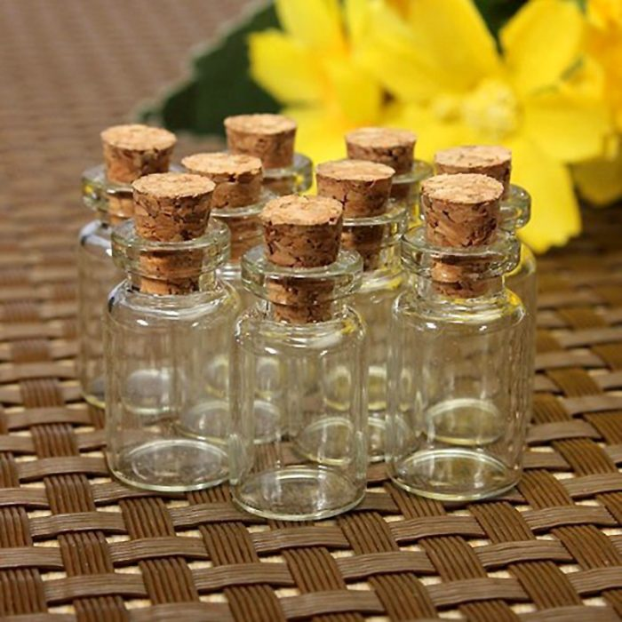 Small Glass Bottles Cork Lock