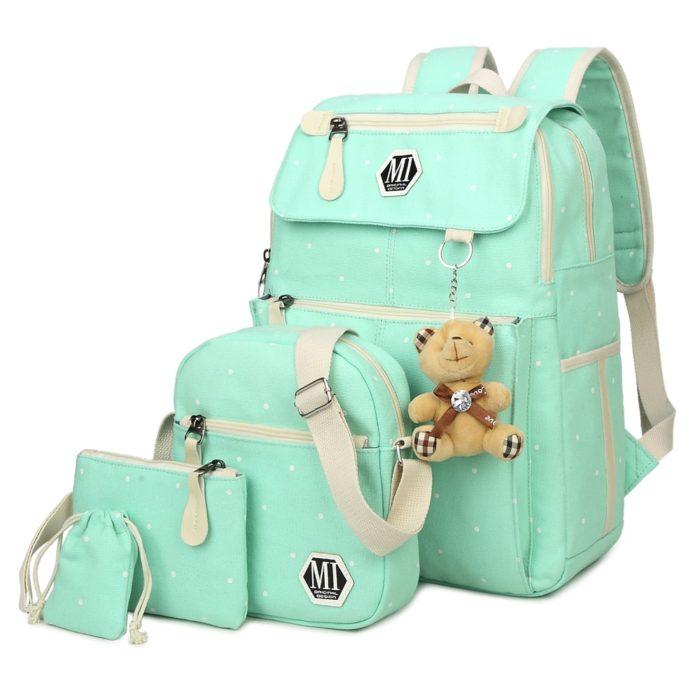 Canvas Bag Sling Backpack Set