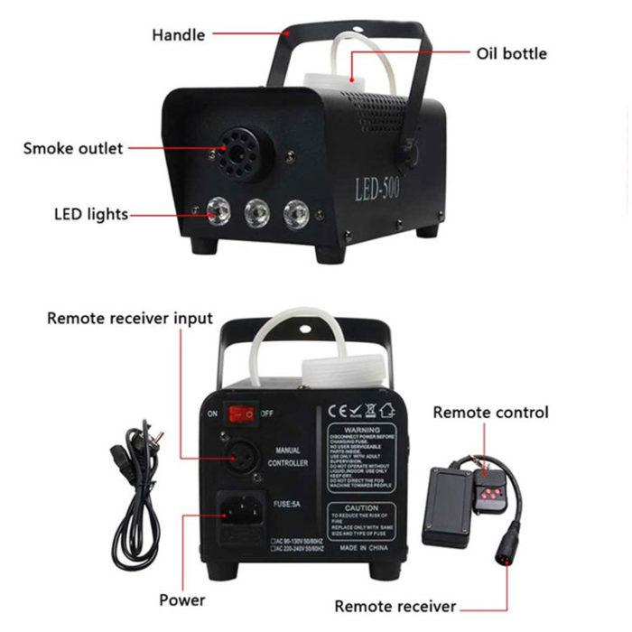 Fog Machine Mini LED Smoke Generator