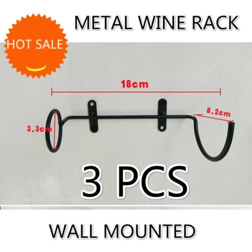 Wall Mounted Wine Rack 3PC Set