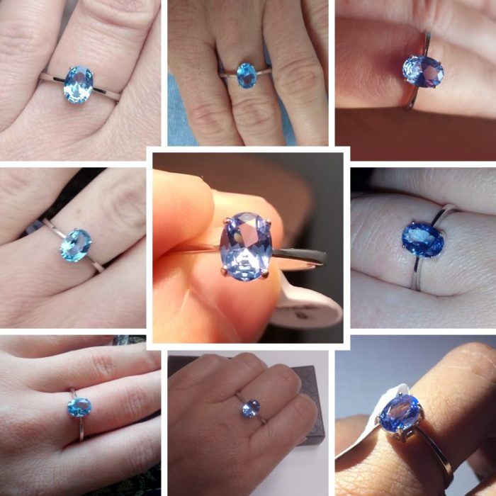 Blue Topaz Rings Women's Jewelry