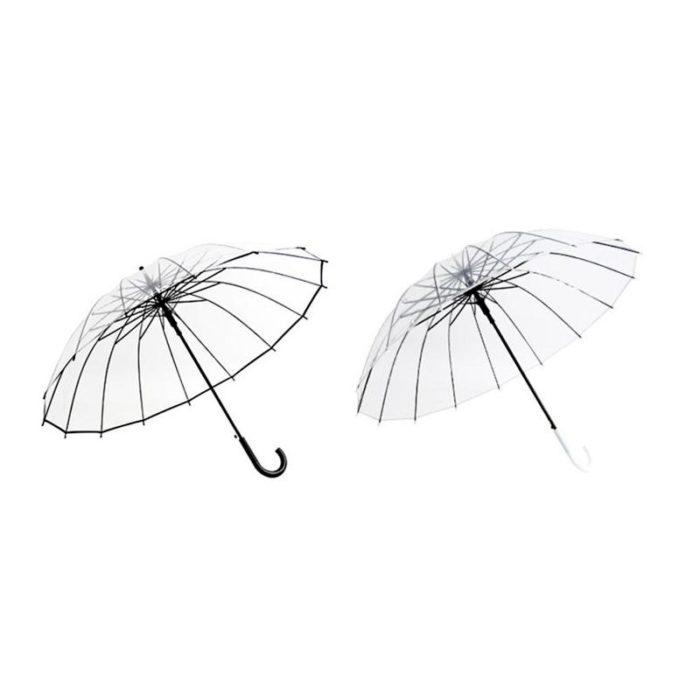 373edf521d5b Transparent Umbrella Semi Automatic Parasol