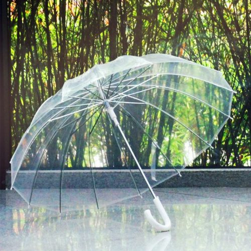 Transparent Umbrella Semi Automatic Parasol