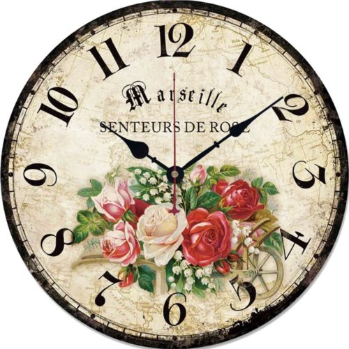 Rustic Wall Clock Vintage Design