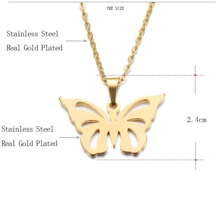 Butterfly Necklace Ladies Jewelry